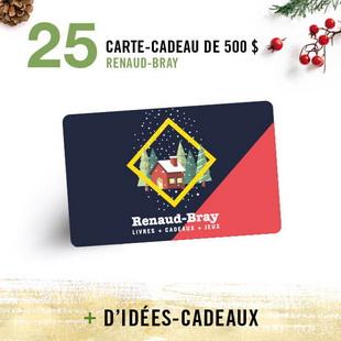 12407 - Concours Calendrier de l'avent de Renaud-Bray: 25 paniers-cadeaux pour 25 jours